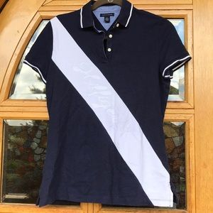 Tommy Hilfiger Tops - Tommy Hilfiger Navy & White Polo shirt.